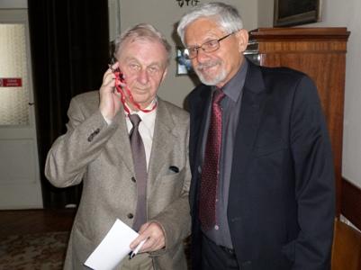 Prezesi M. Wawrzkiewicz i K. Burnat