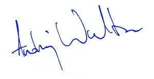 podpis Andrzeja Waltera
