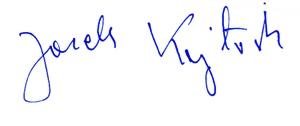podpis Jacka Kajtocha