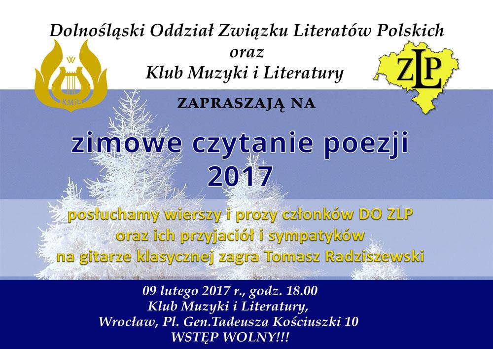 Zimowe Czytanie Poezji 2017